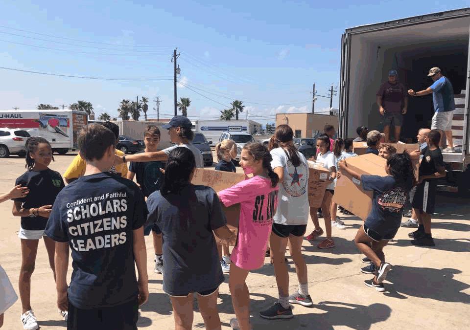 St. Luke's Episcopal School Lends Support to Harvey Relief Efforts