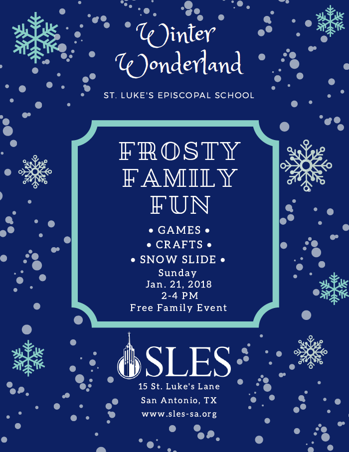 Flyer for St. Luke's Episcopal School Winter Wonderland