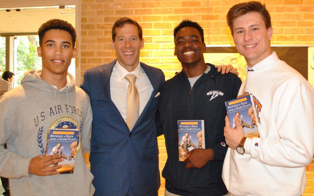 Aron Ralston Inspires SMH Students to Persevere