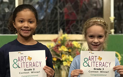 St. Luke's Episcopal School Students win First Place in the Texas Art and Literacy Summer Contest