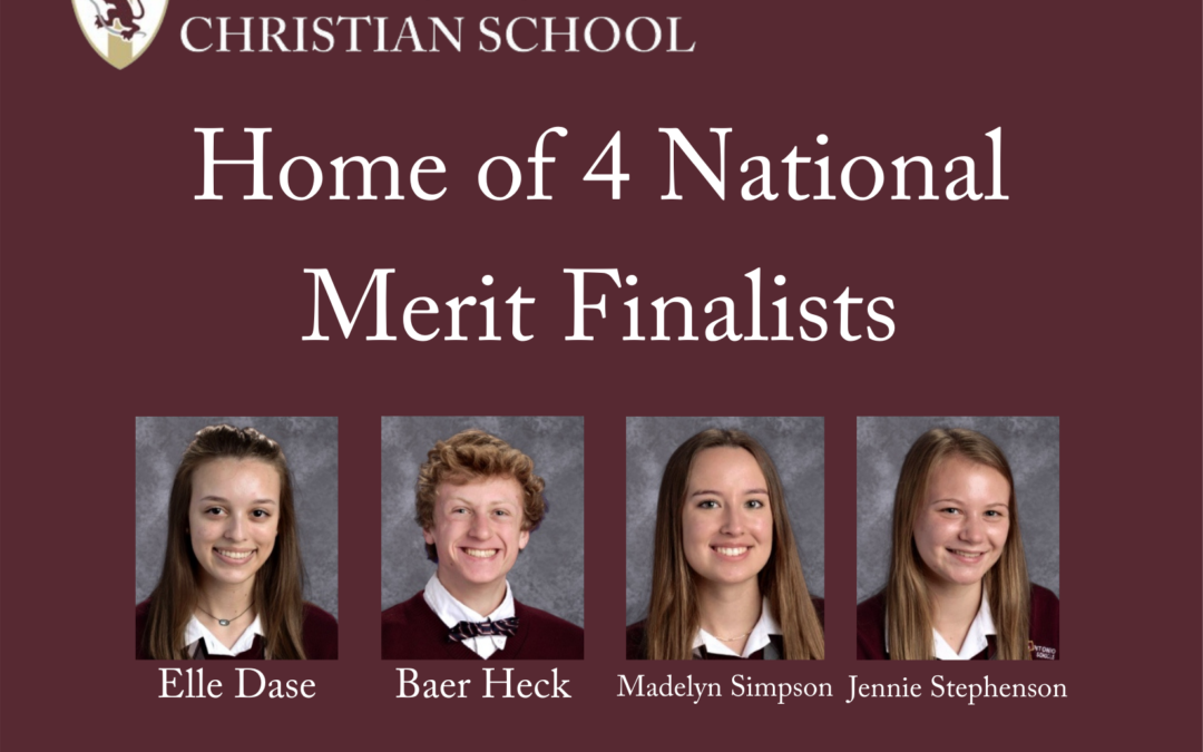 San Antonio Christian School's National Merit Scholarship Finalists